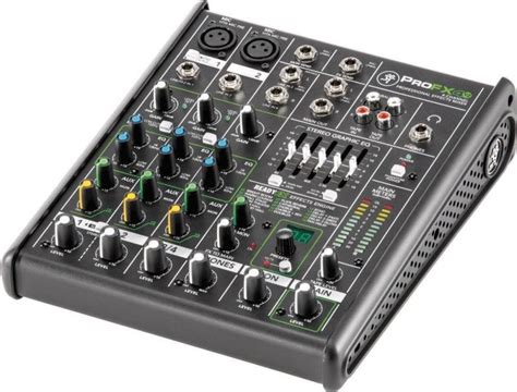 Mixer Sound mackie 4 channel professional effects mixer