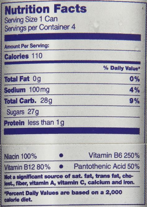 u energy drink nutritional information the gallery for gt energy drink nutrition facts