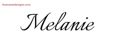melanie tattoo designs calligraphic name designs melanie free