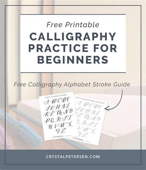 Free Calligraphy Printables
