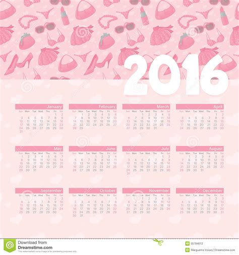 a calendar with my photos year calendar girly stock illustration image of july