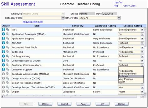 skill assessment template skills assessment template performing a skills assessment