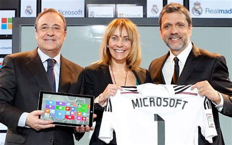 Microsoft Real Madrid microsoft real madrid c f partnership announced will
