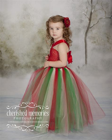 christmas crochet top tutu dress