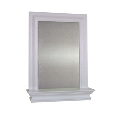 bathroom mirrors overstock elegant home fashions kingston wall mirror with shelf