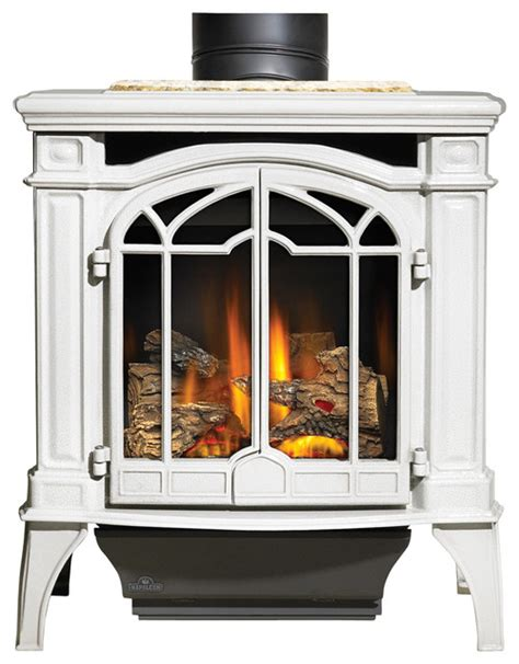 napoleon freestanding gas fireplace napoleon porcelain white gas stoves bayfield gds25