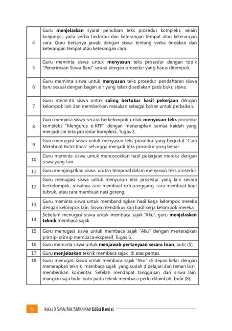 membuat teks prosedur tentang mengurus kartu pelajar buku pegangan guru bahasa indonesia sma kelas 10 kurikulum