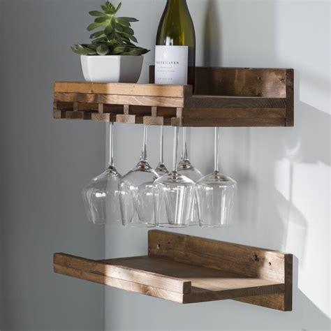 Trent Austin Design Bernon Rustic Wall Mounted Wine Glass