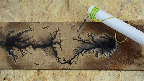 lightning pattern on wood wood burning with lichtenberg figures high voltage di