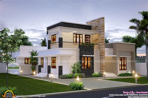 Contemporary Home by Cute Contemporary Home Kerala Home Design And Floor Plans