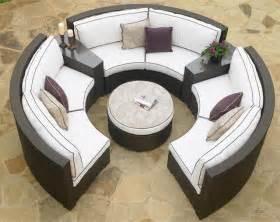 circular patio sectional wicker modern outdoor