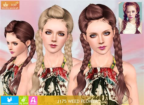 sims 3 braid hair weed flower sims 3 pinterest flower hairstyles sims