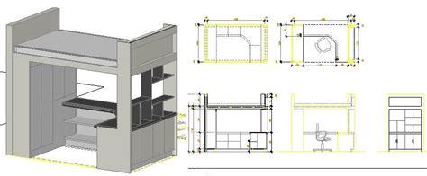 wood bunk bed dwg block  autocad designs cad