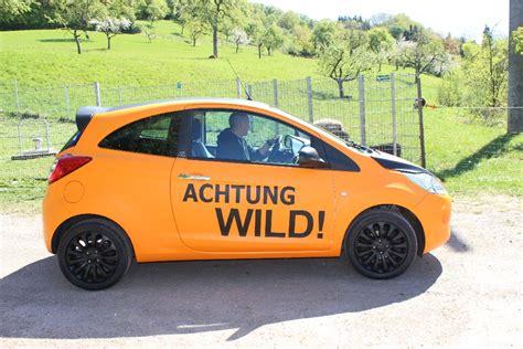 Auto Folieren Stuttgart Preis by Folierung Ford Ka In Orange Matt Und Schwarz Matt