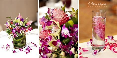 Katje's blog: tropical exotic reception floral centerpiece