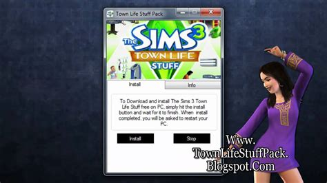 the sims 3 town life stuff pack free game download free how to install the sims 3 town life stuff pack free on pc