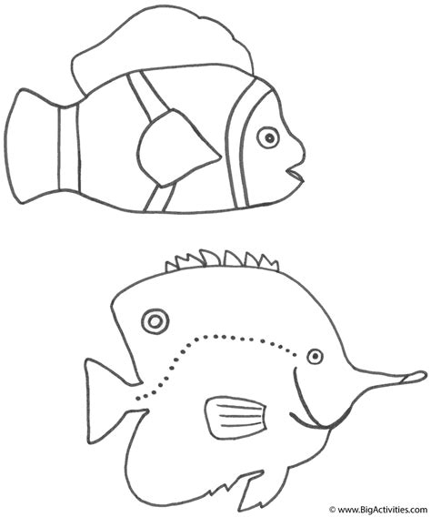 big fish template fish coloring coloring pages
