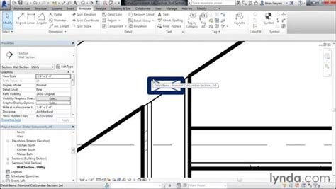revit tutorial section detailing a wall section with detail components