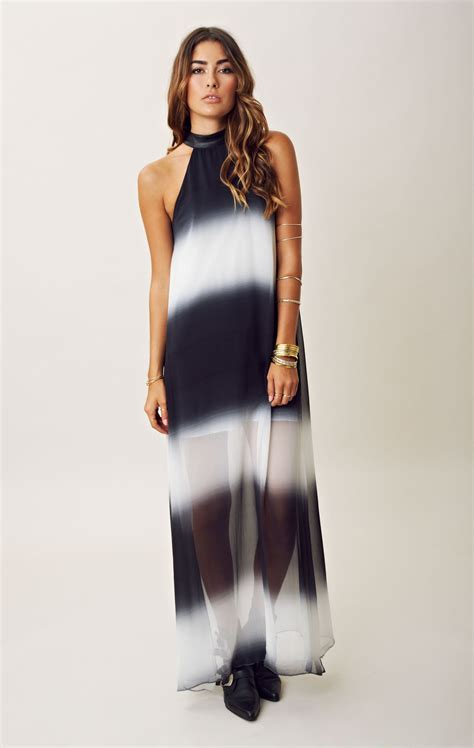 black and white pattern halter neck turmec 187 halter neck maxi dresses on sale