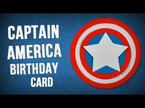 Captain America Birthday Card Diy 3d Captain America Birthday Card Youtube