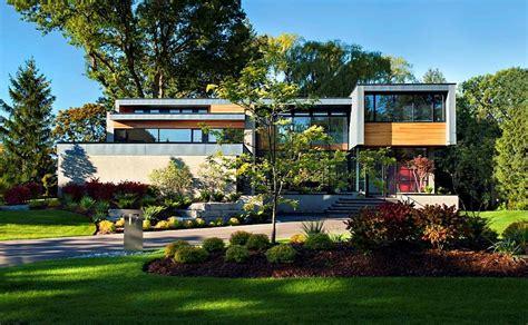 modern home design ontario distinctive facade and a dazzling interior shape the