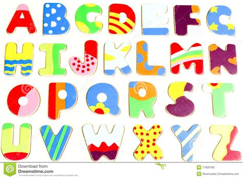 Tropical Wall Stickers abc wooden alphabet puzzle board royalty free stock image