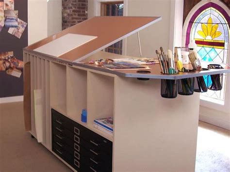 Art Desk With Storage Www Imgkid Com The Image Kid Has It Artist Desk