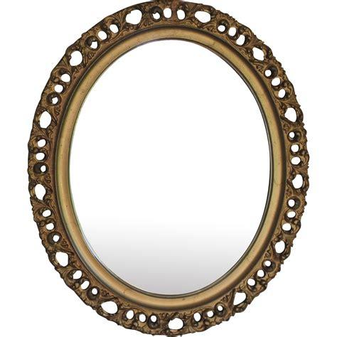 antique italian gilt wood florentine oval mirror juliet