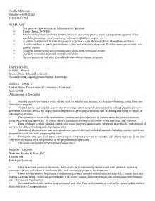 A Sle Of Resume For by Bullet Style Resume