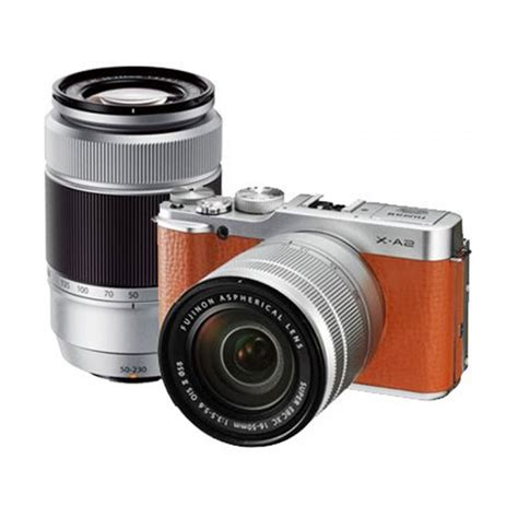 Kamera Fujifilm Mirrorless jual fujifilm x a2 kit 16 50mm 50 230mm ois ii kamera mirrorless brown harga