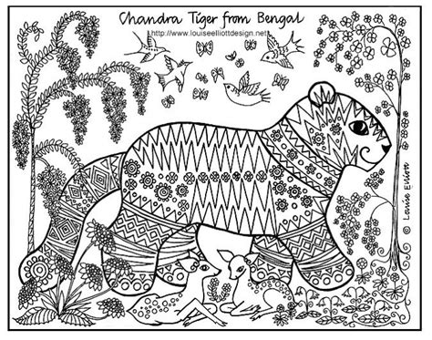 india pattern coloring page the tail on this tiger is pretty cool http www