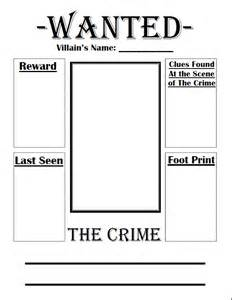 Free Wanted Poster Template For Kids Fairy Tale Wanted Poster Book Club For Kids Pinterest