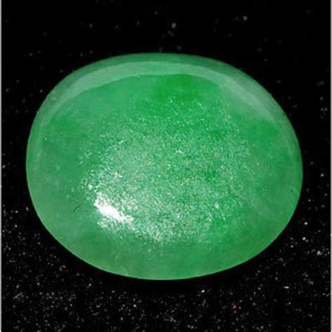 Green Jade Oval Gemstone 3 85 ct untreated green jade gemstone for sale