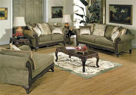 Traditional Sectional Sofas Living Room Furniture Antique Style Traditional Wing Back Formal Living Room Furniture Set Brown Living Room Sofas