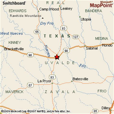 map of uvalde texas uvalde texas