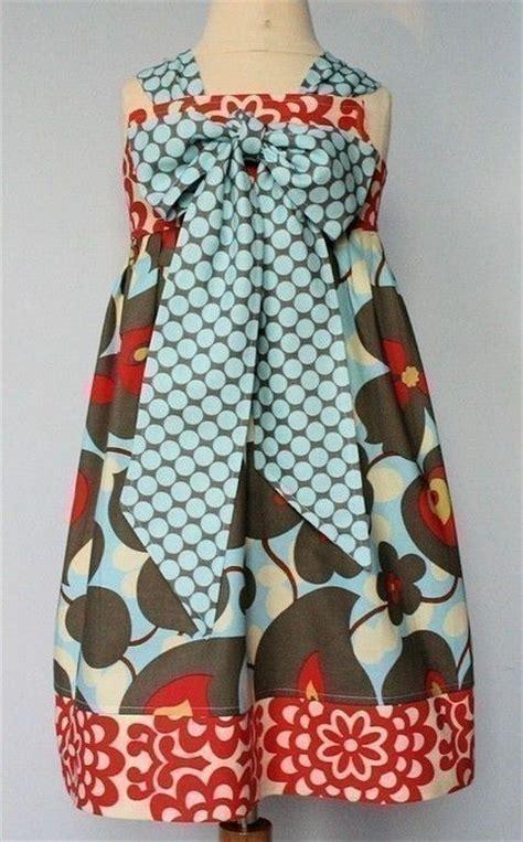 girls knot dress sewing pattern and a line top shirt kissing kumquats reverse knot dress pdf sewing pattern