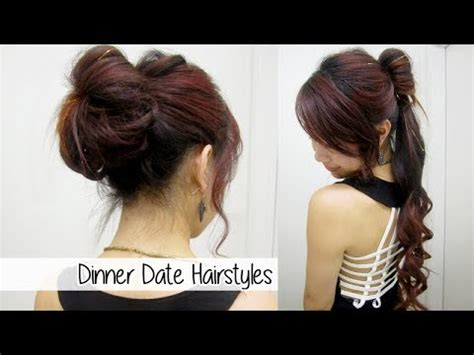 simple hairstyles for dinner glamorous ponytail bun updo l dinner date nights