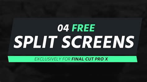 free cut pro x templates free template 04 split screens for cut pro x
