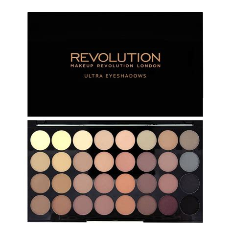 makeup revolution ultra 32 eyeshadow palette flawless matte make up musthaves