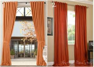Rust Colored Curtains Same Look 4 Less Open Family Room Decorating Whats Ur Home Story
