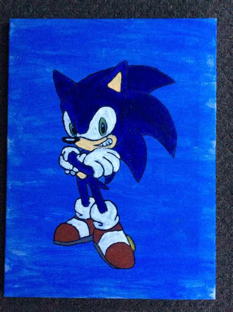 sonic painting sonic painting by amazingangus76 on deviantart