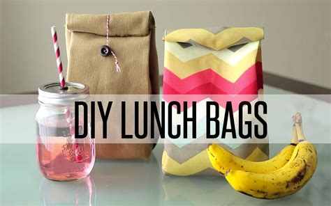 How To Make A Paper Lunch Bag - diy reusable lunch bag paper bag