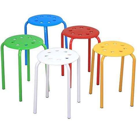 plastic stackable bar stools go2buy 5 color portable plastic stackable stools top
