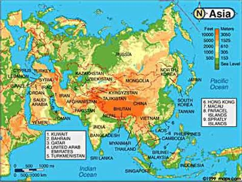 asia map geography map of asia geography area map of asia pictures