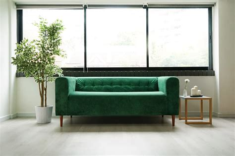 sofa klippan tufting klippan hack be emerald green with envy
