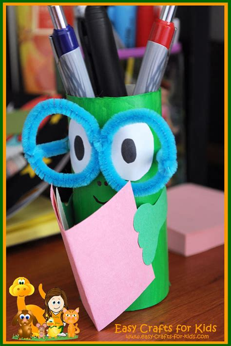 Stand Up Toilet Paper Holder Pencil Holder Crafts For Kids Get Ready For Back To