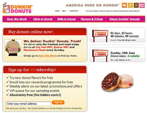 dunkin donuts delivery  singapore flickr photo sharing
