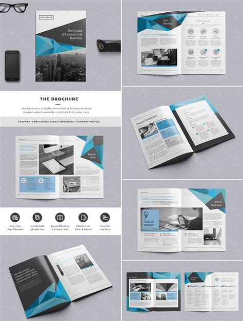 indesign flyer templates free the brochure indd print template graphic design