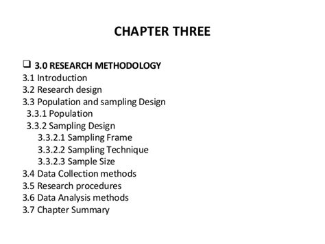 Methodology Outline by Research Methods Lesson 2