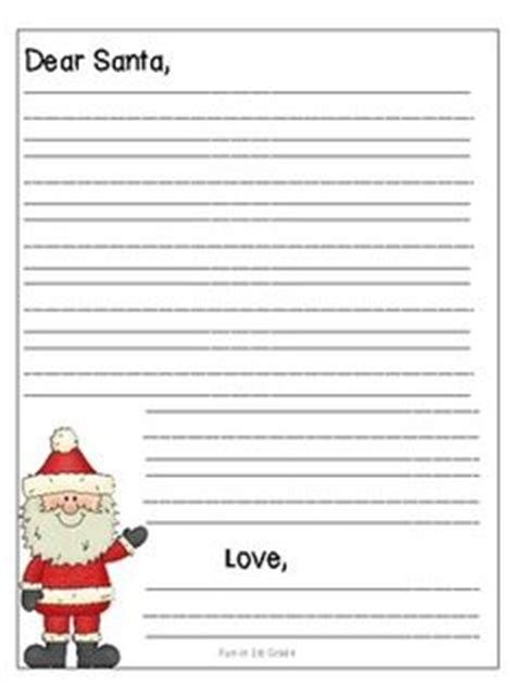 Letter To Santa Template Grade 3 | lined christmas paper for letters do your kids write